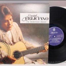 Discos de vinilo: JOSÉ FELICIANO - TU INTENSO AMOR - EMI - 1987- FABRICADO EN USA . Lote 39276950