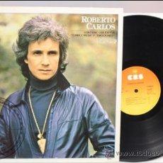 Discos de vinilo: ROBERTO CARLOS - CAMA Y MESA Y EMOCIONES - CBS - 1981 - FABRICADO EN ESPAÑA . Lote 39277422