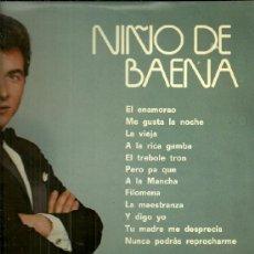 Discos de vinilo: NIÑO DE BAENA LP SELLO BELTER EDITADO EN ESPAÑA AÑO 1974. Lote 39284202