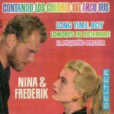 Discos de vinilo: NINA & FREDERIK, EP, CONTANDO LOS COLORES DEL ARCO IRIS + 3, AÑO 1962. Lote 39284337