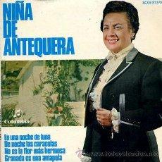 Discos de vinilo: NIÑA DE ANTEQUERA - EN UNA NOCHE DE LUNA - 1969. Lote 39286397