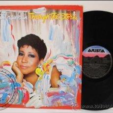 Discos de vinilo: ARETHA FRANKLIN - TROUGH THE STORM - ARISTA - 1989 - FABRICADO EN ESPAÑA - ENCARTE CON LETRAS. Lote 39295899