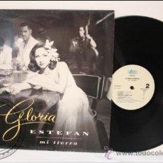 Discos de vinilo: GLORIA ESTEFAN - MI TIERRA - EPIC - 1993 - FABRICADO EN ESPAÑA - ENCARTE CON LETRAS. Lote 39296789