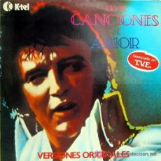 Discos de vinilo: ELVIS PRESLEY - CANCIONES DE AMOR - (KTEL1979) ROCK & ROLL LP. Lote 39298333