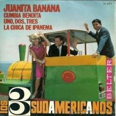 Discos de vinilo: LOS TRES SUDAMERICANOS EP SELLO BELTER AÑO 1966. Lote 39303583