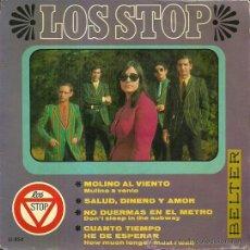 Discos de vinilo: LOS STOP EP SELLO BELTER AÑO 1967. Lote 39303628