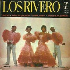 Discos de vinilo: LOS RIVERO EP SELLO ZAFIRO AÑO 1962. Lote 39303696