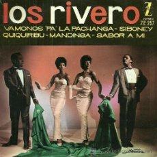 Discos de vinilo: LOS RIVERO EP SELLO ZAFIRO AÑO 1961. Lote 39303703