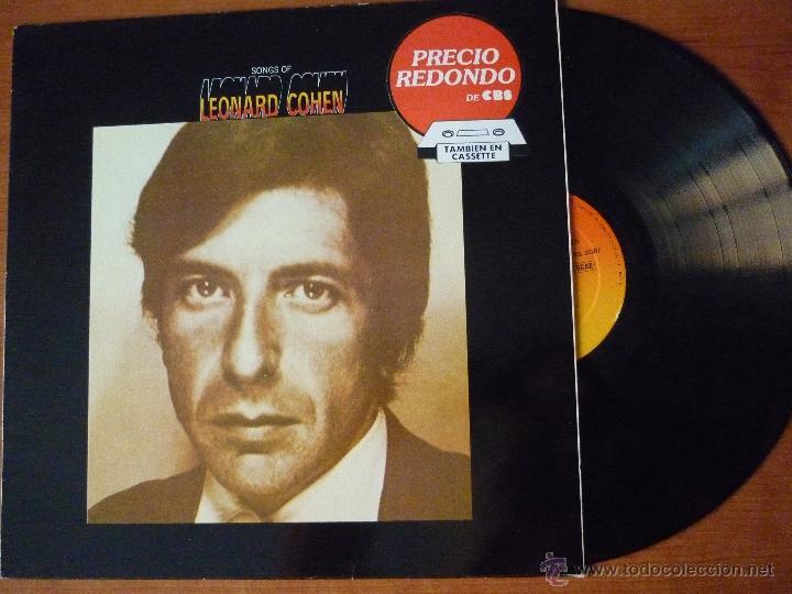 LP - LEONARD COHEN - CANCIONES DE LEONARD COHEN (CBS ,1983) (Música - Discos - LP Vinilo - Cantautores Extranjeros)