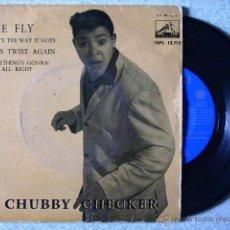 Discos de vinil: CHUBBY CHECKER....THE FLY + 3..PEDIDO MINIMO 5€. Lote 39309178