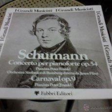 Discos de vinilo: SCHUMANN CONCIERTO PARA PIANO OP. 54. Lote 39309779