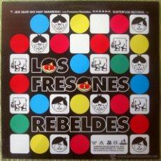 Discos de vinilo: LOS FRESONES REBELDES - LP - ES QUE NO HAY MANERA - SUBTERFUGE RECORDS -VINILO AZUL - HOJA INTERIOR. Lote 191495375