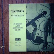 Discos de vinilo: RICARDO SANCHEZ ET SON ORCHESTRE - TANGOS - LA CUMPARSITA + 3. Lote 39326452