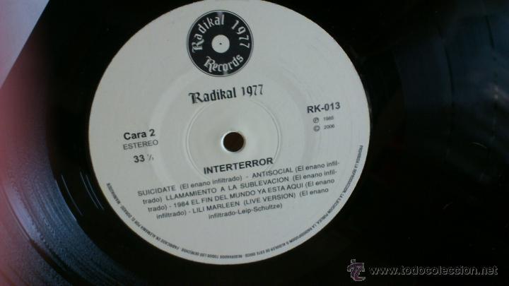 Discos de vinilo: Interterror lp Reedicion Radikal records disco de vinilo Punk Seguridad social Eskorbuto - Foto 5 - 39304908