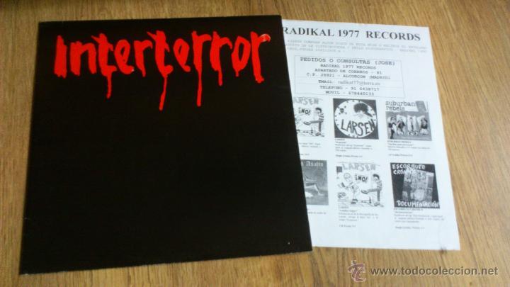 Discos de vinilo: Interterror lp Reedicion Radikal records disco de vinilo Punk Seguridad social Eskorbuto - Foto 2 - 39304908