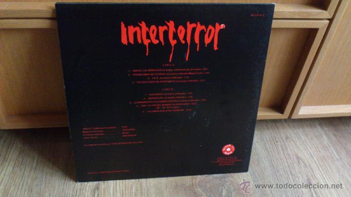 Discos de vinilo: Interterror lp Reedicion Radikal records disco de vinilo Punk Seguridad social Eskorbuto - Foto 4 - 39304908