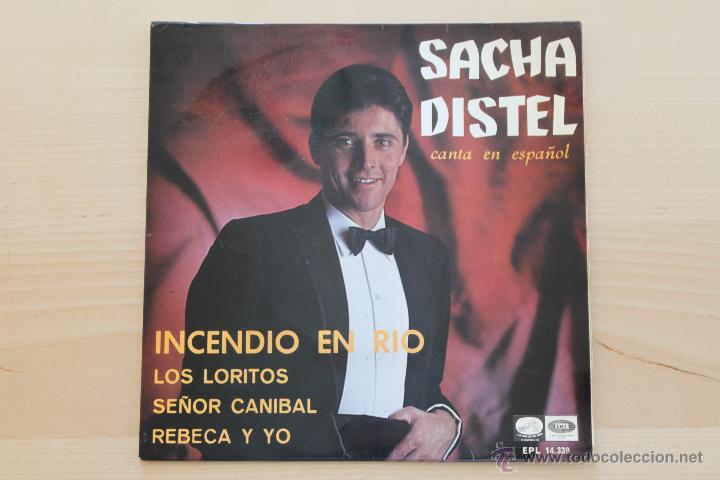 SACHA DISTEL - INCENDIO EN RIO +3 (Música - Discos de Vinilo - EPs - Canción Francesa e Italiana)