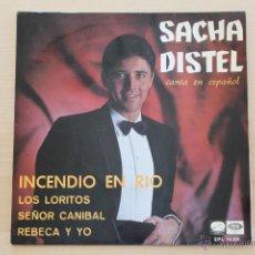 Discos de vinilo: SACHA DISTEL - INCENDIO EN RIO +3. Lote 39326442