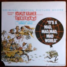 Discos de vinilo: IT'S A MAD, MAD, MAD, MAD WORLD - STANLEY KRAMER - LP ORIGINAL USA PORTADA ABIERTA. Lote 39330766