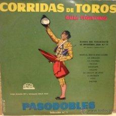 Discos de vinilo: 10 PULGADAS. CORRIDAS DE TOROS. BANDA DEL REG. INFANTERÍA JAÉN 25.REGAL AÑOS 50. ***/***. Lote 39333489