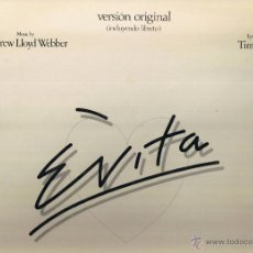 Discos de vinilo: EVITA - DOBLE LP - INCLUYE LIBRETO - FOTO ADICIONAL. Lote 39363260