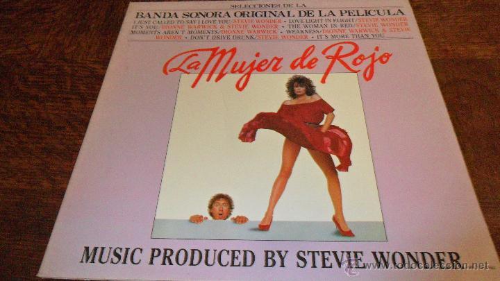 STEVIE WONDER & DIONNE WARWICK, LA MUJER DE ROJO , LP 1984 SPAIN (Música - Discos - LP Vinilo - Bandas Sonoras y Música de Actores )