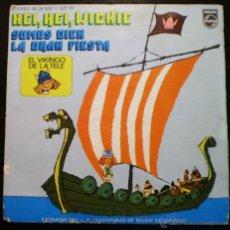 Discos de vinilo: WICKIE EL VIKINGO - SINGLE 45 RPM - PHILLIPS 1975. Lote 39338206