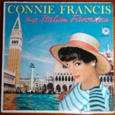 Discos de vinilo: CONNIE FRANCIS SINGS ITALIAN FAVORITES, CONNIE FRANCIS CANTA CANCIONES ITALIANAS - LP ORIGINAL USA. Lote 39343309