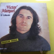 Discos de vinil: LP- VICTOR MANUEL- EL COBARDE-1979- PEPETO. Lote 54037736