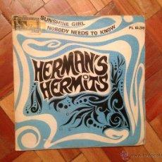 Discos de vinilo: HERMANS HERMITS - SINGLE ESPAÑOL 1968. Lote 39358321