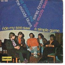 Discos de vinilo: THE MOODY BLUES 7' SG RIDE MY SEE-SAW, SPANISH EDIT (SOLO PORTADA, SIN VINILO). Lote 39367293