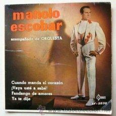 Discos de vinilo: MANOLO ESCOBAR - 1960. Lote 39376523