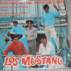 Discos de vinilo: LOS MUSTANG - CATEDRAL DE WINCHESTER - LA VOZ DE SU AMO 1967 - EP. Lote 39391583