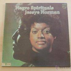 Discos de vinilo: JESSYE NORMAN - NEGRO SPIRITUALS. Lote 39402670