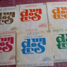 Discos de vinilo: UN, DOS, TRES-LOTE 6 SINGLES DIFERENTES PROMOCIONALES DEL PROGRAMA DE TVE. Lote 39414451