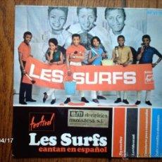 Dischi in vinile: LES SURFS - CANTAN EN ESPAÑOL - EN UNA FLOR + 3. Lote 39419448