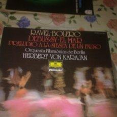 Discos de vinilo: RAVEL. BOLERO DEBUSSY. EL MAR. PRELUDIO A LA SIESTA DE UN FAUNO. C5V. Lote 39421415