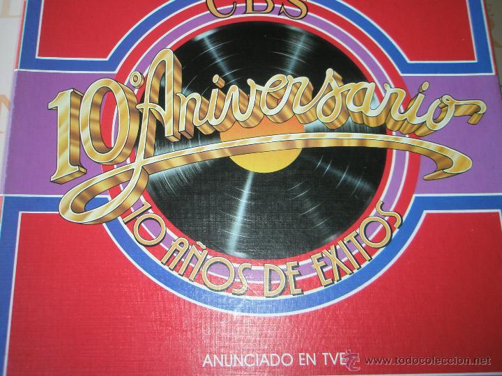 Discos de vinilo: ALBÚM-3 DISCOS-VINILO-CBS-10º ANIVERSARIO-10 AÑOS DE ÉXITOS-. - Foto 6 - 39440130