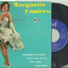 MARGARITA CANTERO Guitarras En La Noche + 3 EP SAEF 1962 @ CHICA YE-YE @ UN EP COMO NUEVO