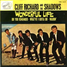 Dischi in vinile: EP CLIFF RICHARD & THE SHADOWS : WONDERFUL LIFE + 3 . Lote 39436254