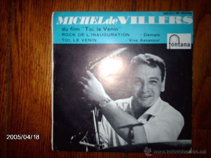MICHEL DE VILLERS ET SON ORCHESTRE - ROCK DE L´INAUGURATION + 3 (Música - Discos de Vinilo - EPs - Jazz, Jazz-Rock, Blues y R&B)