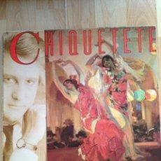 Discos de vinilo: LP CHIQUETETE, SEVILLA SIN TU AMOR,SEVILLANAS, RCA 1988. Lote 39454949
