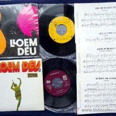 Discos de vinilo: LLOEM DEU Y LLOEM DEU 2 JAUME ARNELLA MAS PARTITURA Y LETRA. Lote 39461245