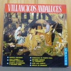 Discos de vinilo: MANOLO ESCOBAR / DOLORES VARGAS / LOLA FLORES - VILLANCICOS ANDALUCES - LP BELTER - 1966. Lote 52743274