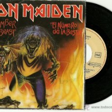 Discos de vinilo: IRON MAIDEN. THE NUMBER OF THE BEAST (VINILO SINGLE ESPAÑOL 1982). Lote 39479530