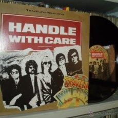 Discos de vinilo: TRAVELING WILBURYS MAXI HANDLE WITH CARE 45 RPM HARRISON DYLAN ORBISON BEATLES GERMANY. Lote 193081223