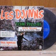 Discos de vinilo: LES DJINNS / TOM PILLIBI / NOS BELLES ANNESS / PILOU PILOU HE... / CRIQUEMITOUFLE (EP DE 1960). Lote 39488388