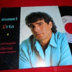 Discos de vinilo: MANUEL ORTA SEVILLA LO SABE/ ESTRENANDO LIBERTAD 7 SINGLE 1992 FODS . Lote 39492475