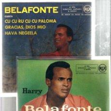 Discos de vinilo: 2 EP´S HARRY BELAFONTE : DELIA + CU CU RU CU CU PALOMA . Lote 39494902