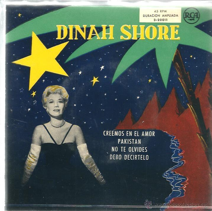 EP DINAH SHORE : CREEMOS EN EL AMOR ( THREE COINS IN THE FOUNTAIN ) (Música - Discos de Vinilo - EPs - Jazz, Jazz-Rock, Blues y R&B)